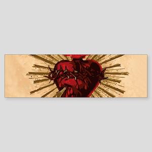 Heart_of_Jesus_sq Bumper Sticker