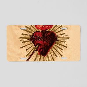 Heart_of_Jesus_sq Aluminum License Plate