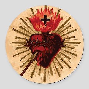 Heart_of_Jesus_sq Round Car Magnet
