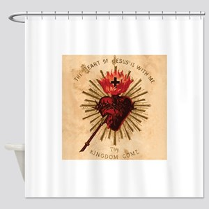 Heart_of_Jesus_sq Shower Curtain