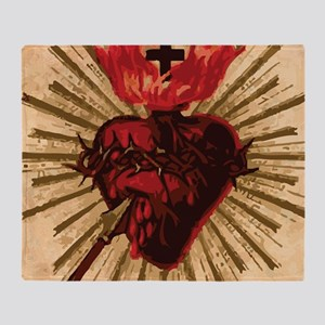 Heart_of_Jesus_sq Throw Blanket