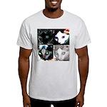 LabRat the Wonder Cat's Funky Ash Grey T-Shirt