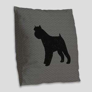 Brussels Griffon Burlap Throw Pillow