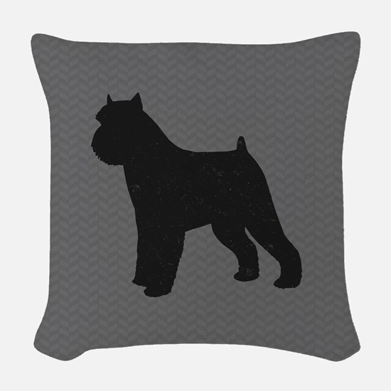 Brussels Griffon Woven Throw Pillow