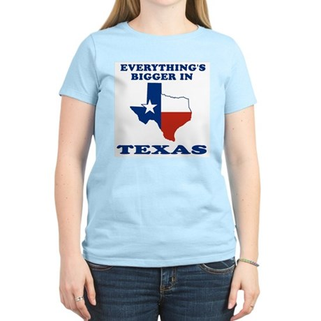Everything's bigger in Texas Women's Pink T-Shirt