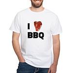 I Love Bbq Men's White T-Shirt