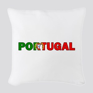 Portugal Woven Throw Pillow