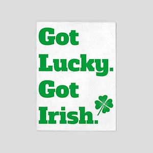 Got Lucky Got Irish 5'x7'Area Rug