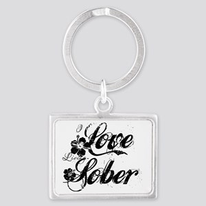 Recovery and Sobriety Landscape Keychain