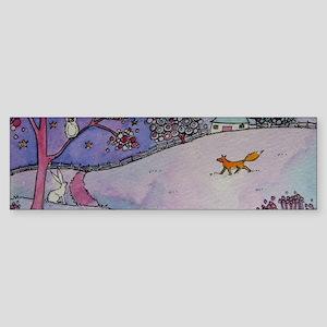 Wandering Fox Bumper Sticker