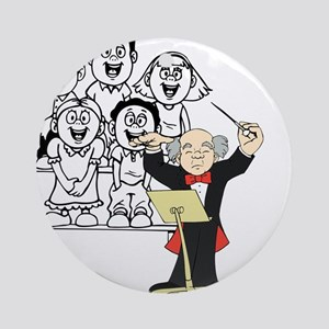 Choir and Director Ornament (Round)