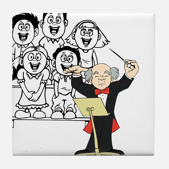 Choir and Director Tile Coaster