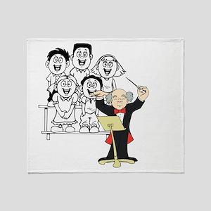 Choir and Director Throw Blanket
