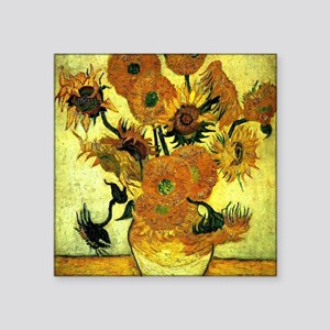 "Van Gogh - Sunflowers, 14 Square Sticker 3"" x 3"""