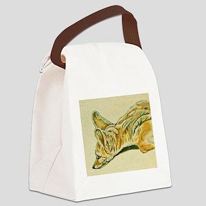 Fennec Fox Canvas Lunch Bag