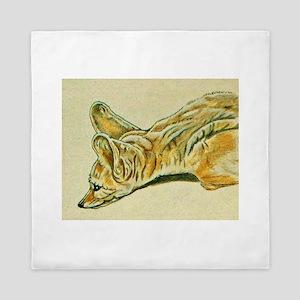 Fennec Fox Queen Duvet