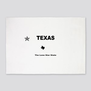 Texas - 2013 The Lone Star State bl 5'x7'Area Rug