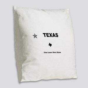 Texas - 2013 The Lone Star Sta Burlap Throw Pillow