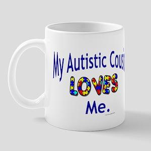 My Autistic Cousin Loves Me Mug