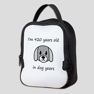 60 dog years 2 Neoprene Lunch Bag
