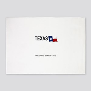 TX - White blank license plate repl 5'x7'Area Rug