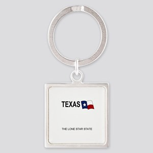TX - White blank license plate replica Keychains