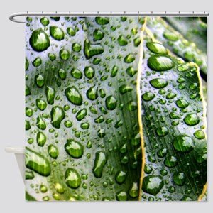 Wet Leaf Shower Curtain
