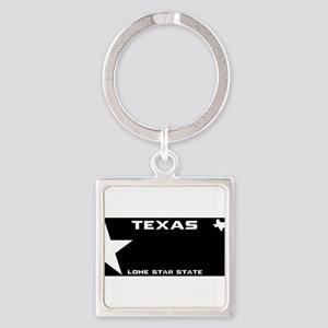 TX - Lone star - BLACK blank license pla Keychains