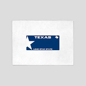Texsas Lone star Blue 5'x7'Area Rug