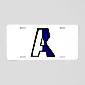 Nautical A Aluminum License Plate
