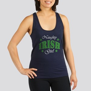 Naughty Irish Girl Racerback Tank Top