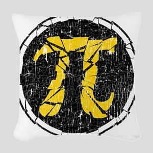 Shattered-Flavored Pi  Woven Throw Pillow