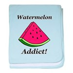 Watermelon Addict baby blanket