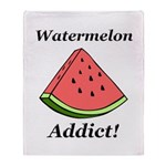 Watermelon Addict Throw Blanket