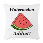 Watermelon Addict Woven Throw Pillow