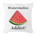 Watermelon Addict Woven Throw Pillow