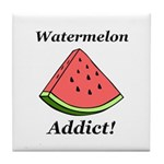 Watermelon Addict Tile Coaster