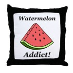 Watermelon Addict Throw Pillow