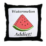 Watermelon Addict Throw Pillow