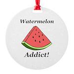 Watermelon Addict Round Ornament