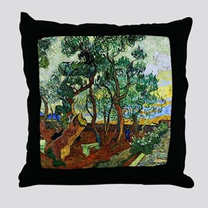 Van Gogh - The Garden of St. Paul's H Throw Pillow