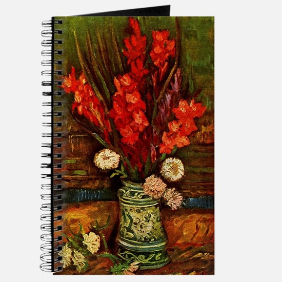 Van Gogh - Vase with Red Gladiolas Journal