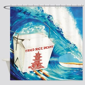 Fried Rice Benny Shower Curtain