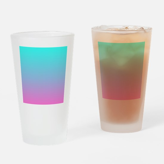 pink turquoise ombre Drinking Glass