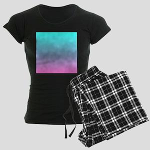 pink turquoise ombre Women's Dark Pajamas