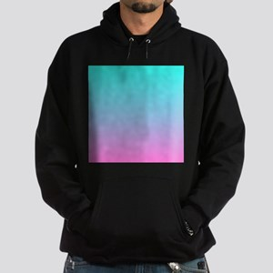 pink turquoise ombre Hoodie (dark)