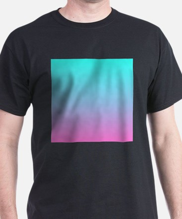 pink turquoise ombre T-Shirt