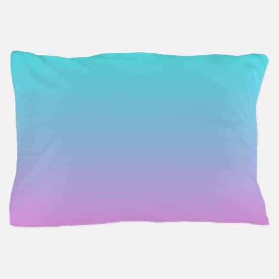 pink turquoise ombre Pillow Case