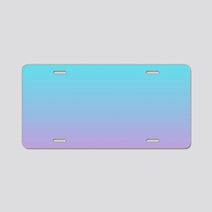 pink turquoise ombre Aluminum License Plate