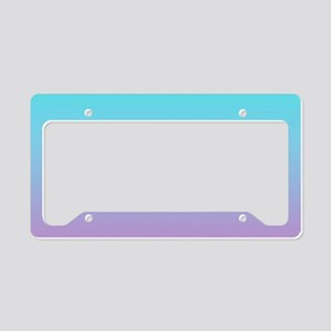 pink turquoise ombre License Plate Holder